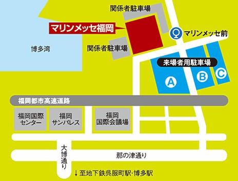 マリンメッセ福岡の詳細図